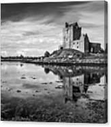 Dunguaire Castle In Black And White Canvas Print