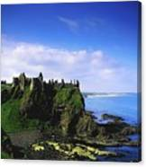Dunluce Castle, Co Antrim, Irish, 13th Canvas Print