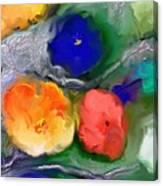 Duo De Fleurs 2 Canvas Print
