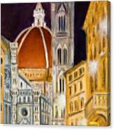 Duomo At Night Canvas Print