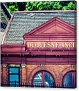 Duquesne Incline Of Pittsburgh Canvas Print