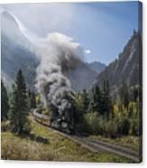 Durango And Silverton Train At Elk Park Wye Canvas Print