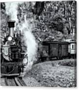 Durango Silverton Train Bandw Canvas Print
