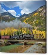 Durango-silverton Twin Bridges Canvas Print