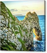 Durdle Dore - Ocean Rock Formation Canvas Print
