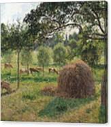 Dusk At Eragny Canvas Print