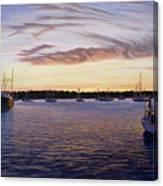 Dusk At Stonington Harbor Canvas Print