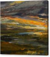 Dusk At The River Canvas Print