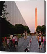 Dusk At The Viet Nam Veterans Memorial Canvas Print