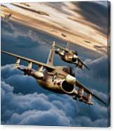Dusk Delivery Corsair II Canvas Print