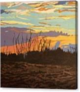 Dusk Fishing, Hutchinson Island Canvas Print