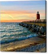 Dusk In Charlevoix Canvas Print