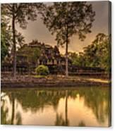 Dusk Light Preah Khan Temple Reflection Canvas Print
