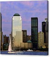 Dusk On Lower Manhattan Canvas Print