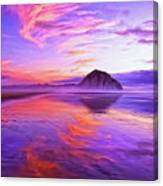 Dusk On The Morro Strand Canvas Print