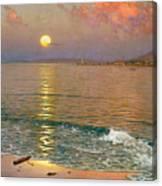 Dusk Over The Coast Canvas Print