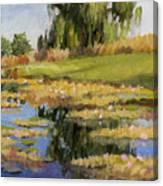 Dusk Over The Pond Canvas Print