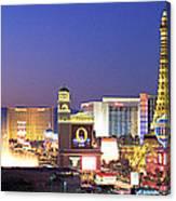 Dusk, The Strip, Las Vegas, Nevada, Usa Canvas Print