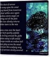Dust Of Sorrow - Poetry In Art Canvas Print