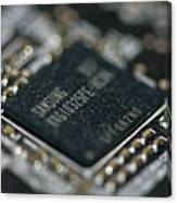 Dusty Motherboard Canvas Print