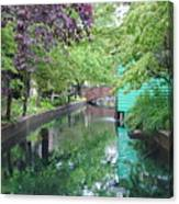 Dutch Canal Canvas Print