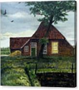 Dutch Farm At Dusk Canvas Print