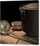 Dutch Oven And Ladle Canvas Print