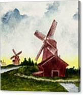 Dutch Windmills Canvas Print