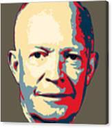 Dwight D. Eisenhower Pop Art Canvas Print