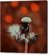 Dying Blowball Canvas Print