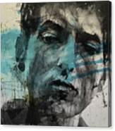 Dylan - Retro  Maggies Farm No More Canvas Print