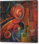 Dynamic Duo - Cello And Scroll Canvas Print