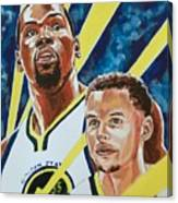 Dynamic Duo - Durant And Curry Canvas Print