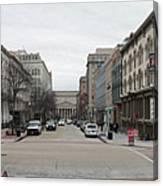 E Street Panorama Canvas Print