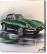 E Type Jag Canvas Print