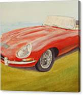 E-type Jaguar Canvas Print