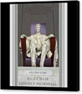 Ea-z-chair Lincoln Memorial Canvas Print