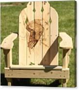 Eagle Adirondack Chair Canvas Print