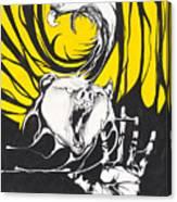 Eagle And Bear Canvas Print