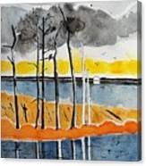 Eagle At Blackwater Canvas Print