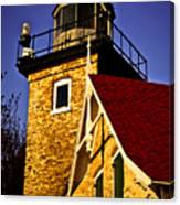 Eagle Bluff Lighthouse Of Door County Canvas Print