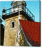 Eagle Bluff Lighthouse Re-imagined Canvas Print