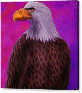 Eagle Crimson Skies Canvas Print
