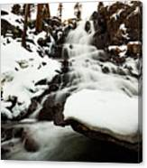 Eagle Falls Raging On Ice Canvas Print