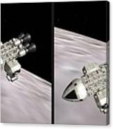 Eagle Shuttle - Gently Cross Your Eyes And Focus On The Middle Image Canvas Print
