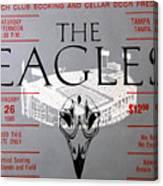 Eagles Concert Ticket 1980 Canvas Print
