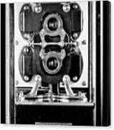 Early 1900s Type Cs Watthour Meter In Black And White Canvas Print