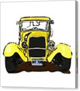 Early 1930s Ford Yellow Canvas Print