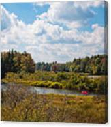 Early Autumn At The Tobie Trail Bridge Canvas Print