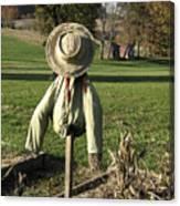 Early Autumn Scarecrow Canvas Print